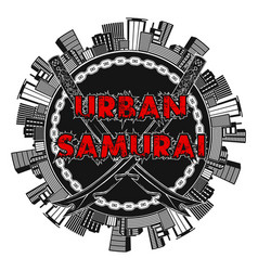 urban samurai 0002 vector image