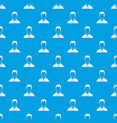 User pattern seamless blue vector