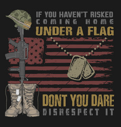 Veteran design boots and gun vector