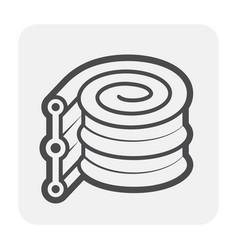 Waterstop rubber icon vector