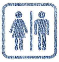 wc persons fabric textured icon vector image