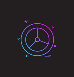 wheel icon design vector image