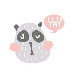 yay panda vector image