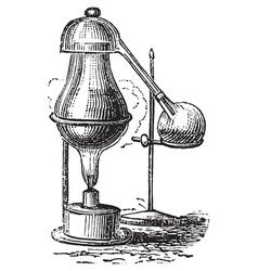 Alembic distillation vintage engraving vector image