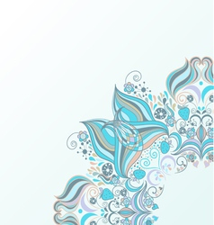 Design Element with lacy frame vector image vector image