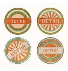 funky retro labels vector image