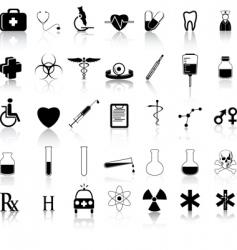 medical black vector image