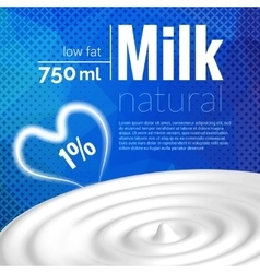 Milk design Milk wave blue triangle halftone vector image