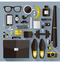 Modern businessman essentials vector image vector image