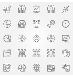 Project management icons set vector image vector image