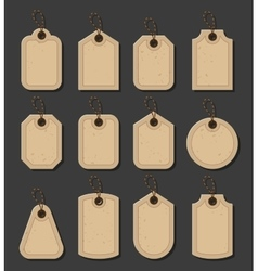 Set of craft tags Paper labels in vitage style vector image vector image