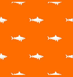 shark fish pattern seamless vector image