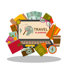 travel planning flat concept vector image vector image