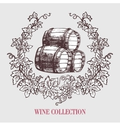 Wine and winemaking vintage vector image vector image