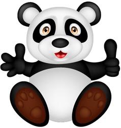 baby panda with thumb up vector image