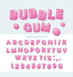 Bubble gum font design sweet abc letters and vector