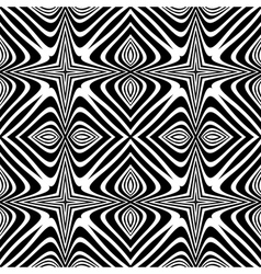 Design seamless monochrome decorative background vector