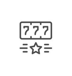 gambling line icon vector image vector image
