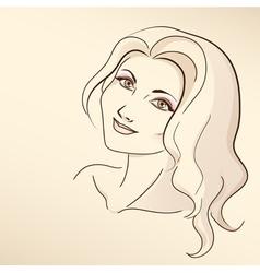 Portrait of woman in pastel tones vector image vector image