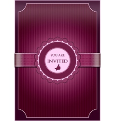 Purple abstract invitation vector image vector image