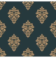 Retro ochre seamless pattern vector image