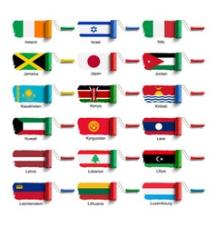 roller brush with flag vector image