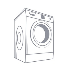 Wash Machine Isolated on White Background vector image vector image
