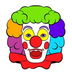 clown icon icon cartoon vector image vector image
