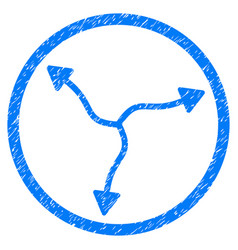 Curve arrows rounded grainy icon vector