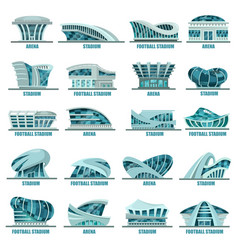 football or soccer stadiums or athletic arenas vector image