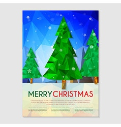 Poster with Christmas tree vector image