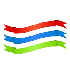 red blue green ribbons with texture vector image
