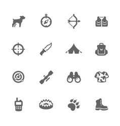 Simple Hunting Icons vector image