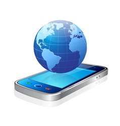 world and mobile vector image vector image