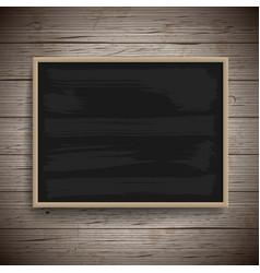 blank vintage chalk board background vector image vector image