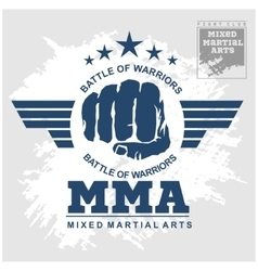 Fight club MMA Mixed martial arts vector image vector image