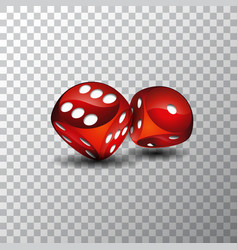 on a casino theme with red vector image vector image