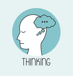 profile human head thinking vector image vector image