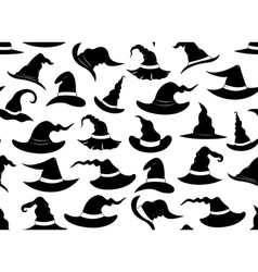 Seamless witch hats vector image vector image