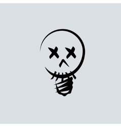 Skull linear head vector image vector image