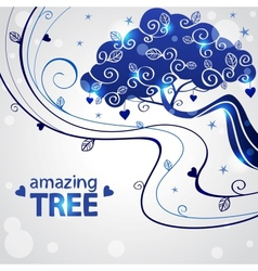 tree abstraction vector image vector image