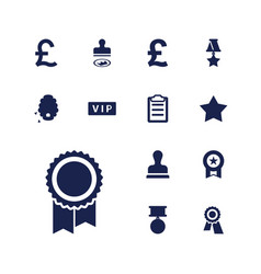 13 quality icons vector