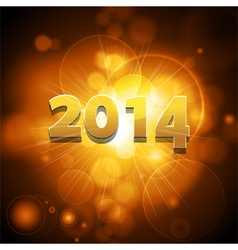 2014 glowing gold background vector image