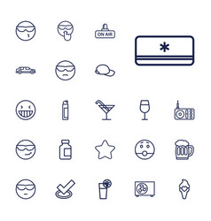 22 cool icons vector