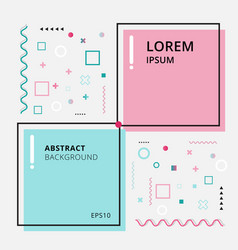 abstract template minimal geometric pink and blue vector image