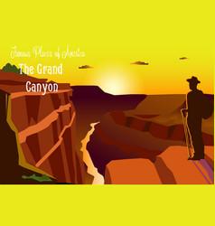 amazing grand canyon national vector image