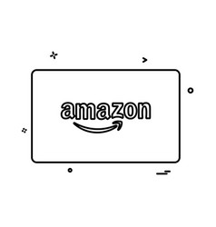 amazon credit card design vector image