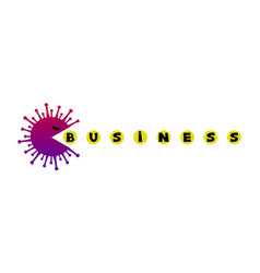 angry virus eats business vector image