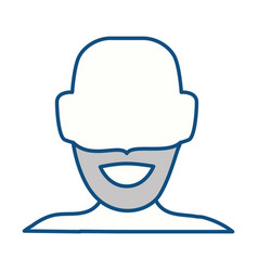 anonymous man faceless vector image