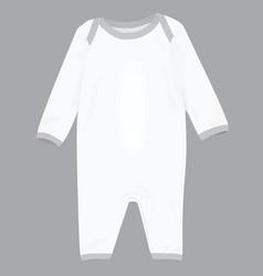 Baby bodysuit vector